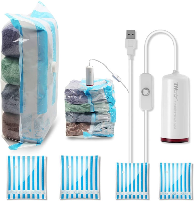 50% off  Electric Travel Pump with storage bags