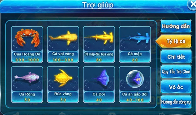 Tỷ lệ cá trong bắn cá ăn tiền 2