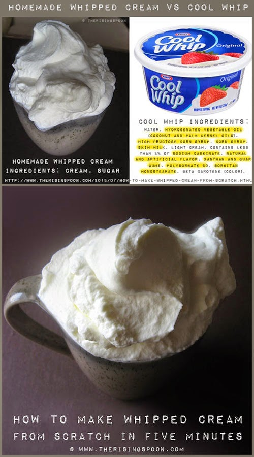 Homemade Whipped Cream Versus Cool Whip Topping