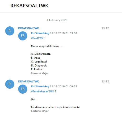 Isi Chat Telegram Di Buka Pada Browser