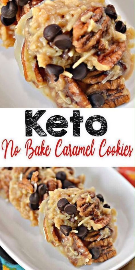 Keto No Bake Caramel Cookies
