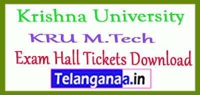 Krishna University  M.Tech Exam Hall Tickets Download