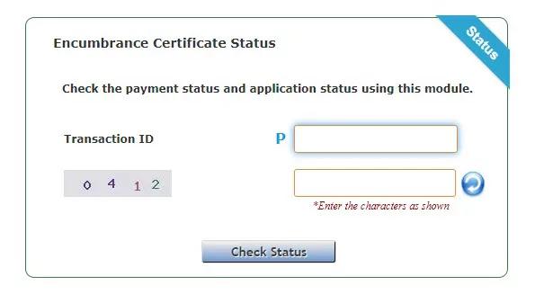 Status Check, Download Encumbrance Certificate
