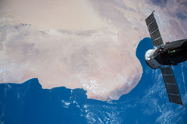Sahara Desert, Mediterranean Sea and the International Space Station