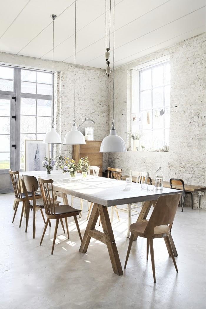 Loft ze skandynawską duszą, wystrój wnętrz, wnętrza, urządzanie domu, dekoracje wnętrz, aranżacja wnętrz, inspiracje wnętrz,interior design , dom i wnętrze, aranżacja mieszkania, modne wnętrza, loft, styl loftowy, styl industrialny, styl skandynawski, jadalnia