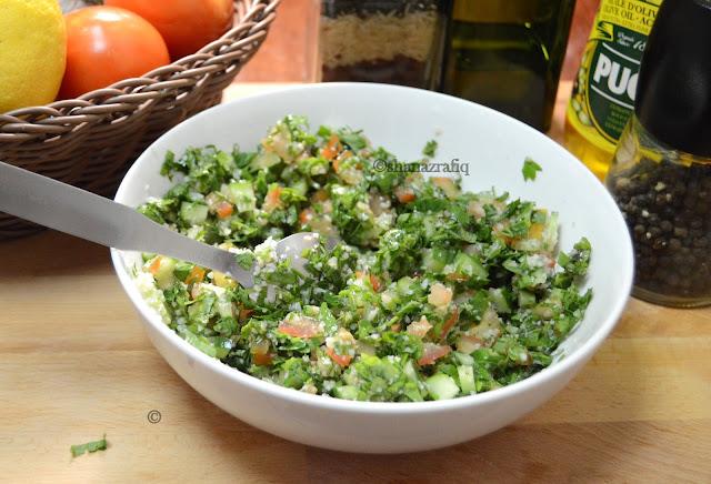 Tabbouleh ~ Arabic Style Parsley Salad