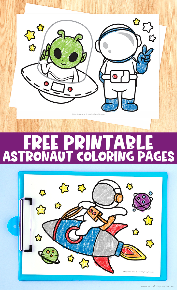 Free Printable Astronaut Coloring Pages