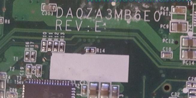 DA0ZA3MB6E0 REV E Aspire one AO751H Bios