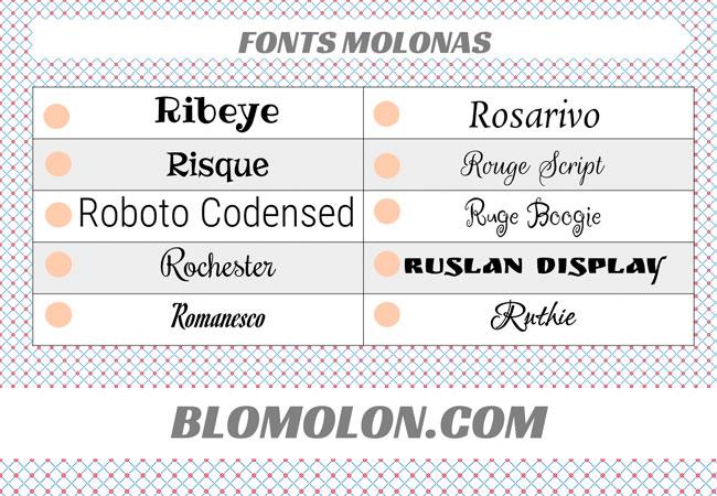 fonts molonas 15