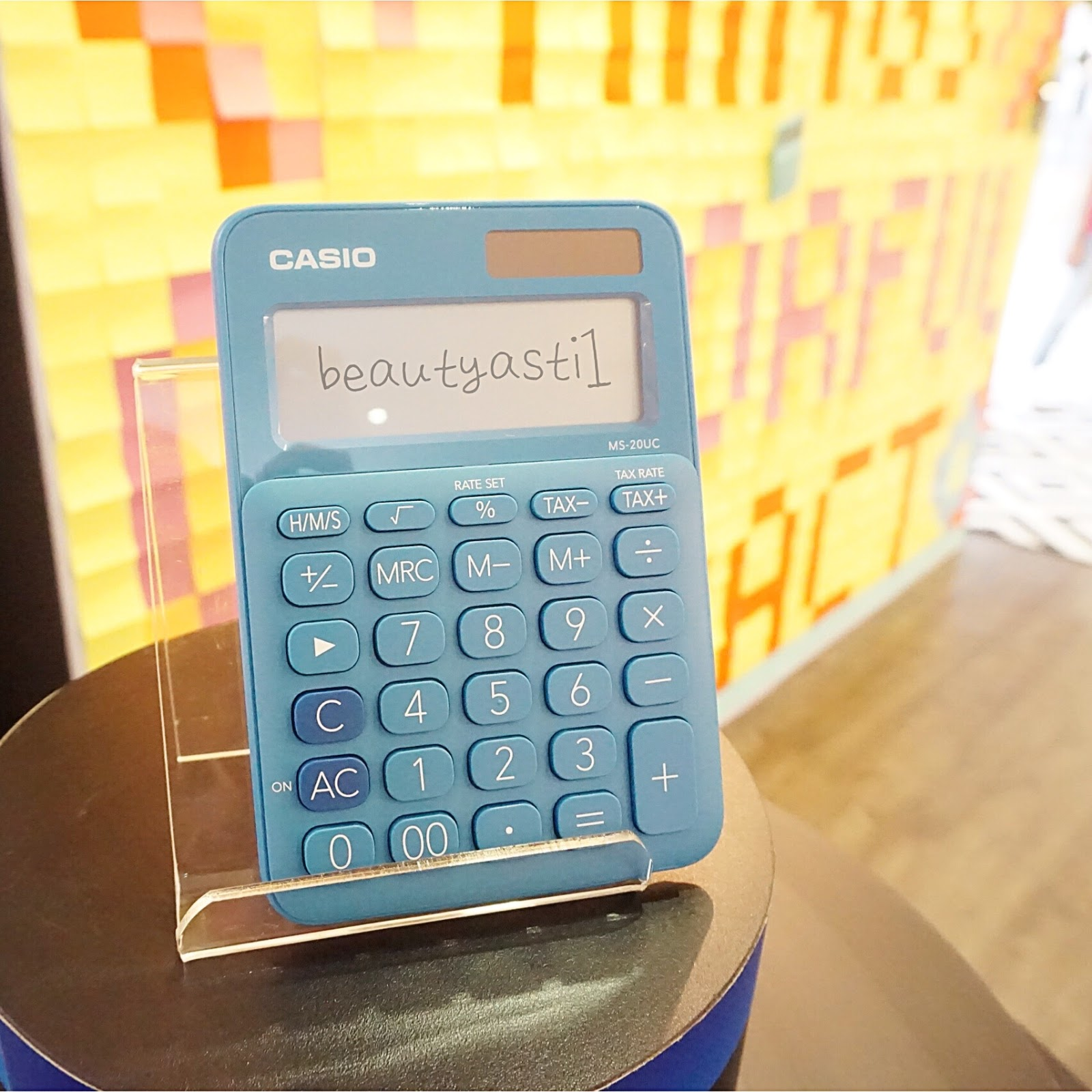 Casio My Style Blogger Gathering At Harlequin Bistro Beautyasti1 Colorful Calculator Ms 20uc Black Little Things Impact