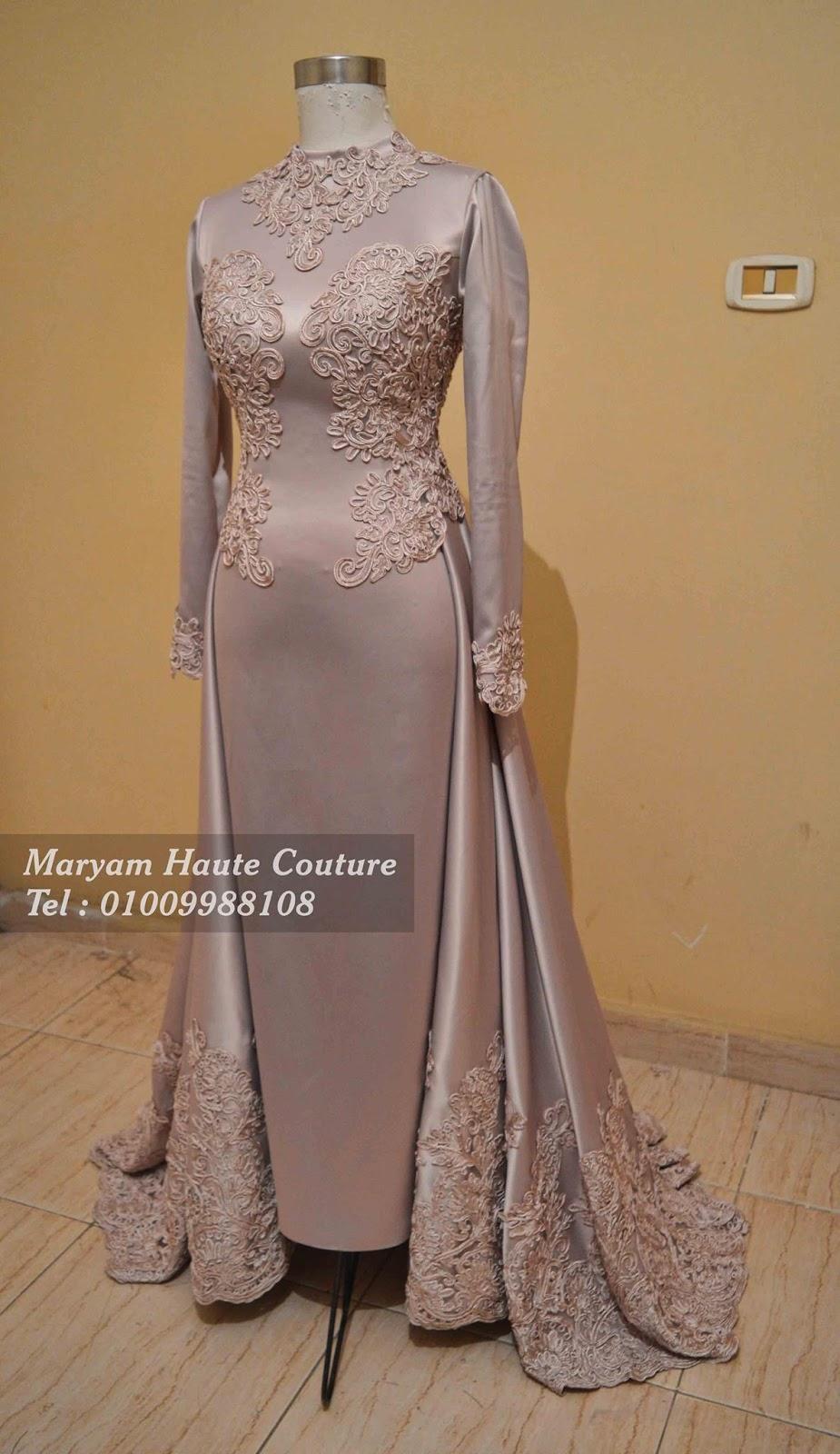 فستان سهرة للمحجبات   Evening Hijab Dress