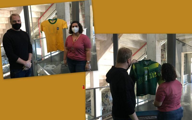 """Principal objeto museológico do Museu do Futebol, a camisa utilizada por Pelé na Copa do Mundo de 1970 vai deixar temporariamente a exposição de longa duração e ficar um período em """"repouso"""" para preservação das fibras do tecido."""