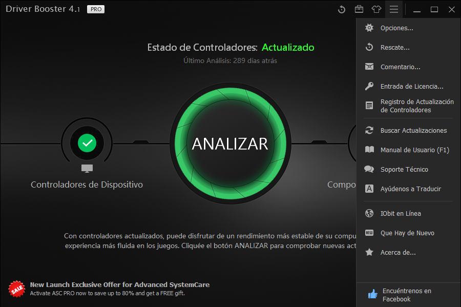 IObit Driver Booster PRO 4.1 full Español + Serial Key