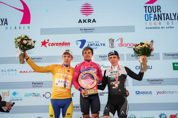 Alessandro Fancellu terminó tercero en el Tour de Antalya