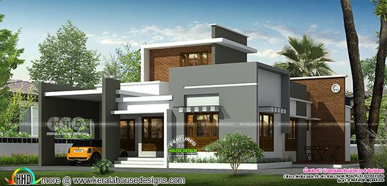 Single floor 3 bedroom contemporary house design
