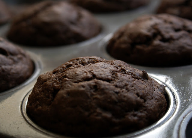 Muffins de chocolate e  Banana