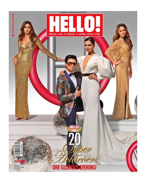 Deepika Padukone & Ranveer Singh on Hello Magazine Cover Page
