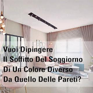 Vuoi Dipingere Il Soffitto Del Soggiorno Di Un Colore Diverso Da Quello Delle Pareti?
