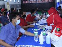 Polres Lamongan jalin kalaborasi dengan Lapas kelas IIb Kabupaten Lamongan dalam kegiatan Vaksinasi
