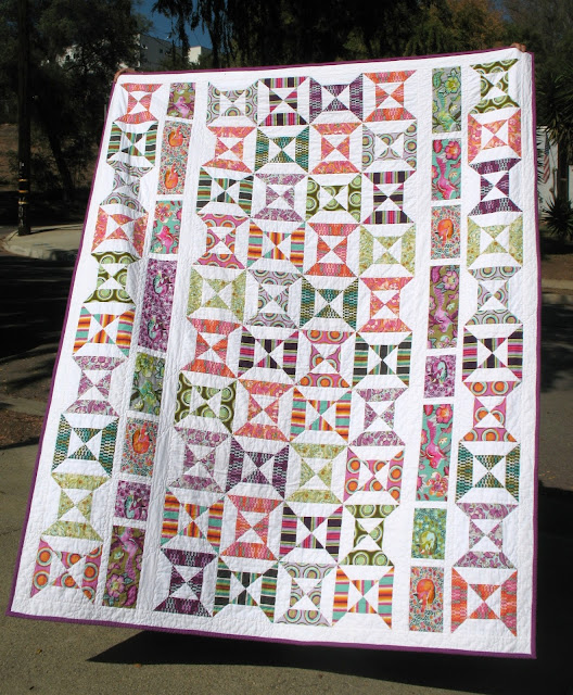 Tula PinkDouble Hour Glass Quilt from Ye Olde Sweatshop