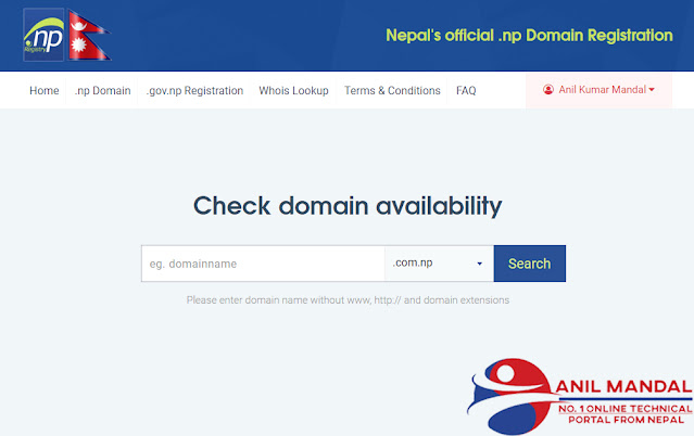 Nepal's official .np Domain Registration