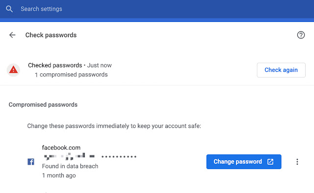 Google Chrome Well Known Change Password