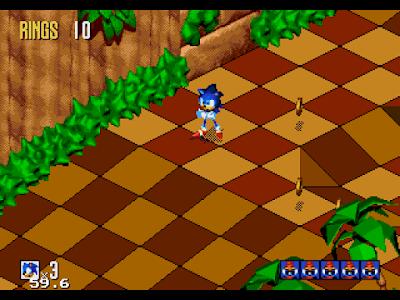 【MD】音速小子3D原版+全關卡可選Hack版,Sonic 3D Blast!
