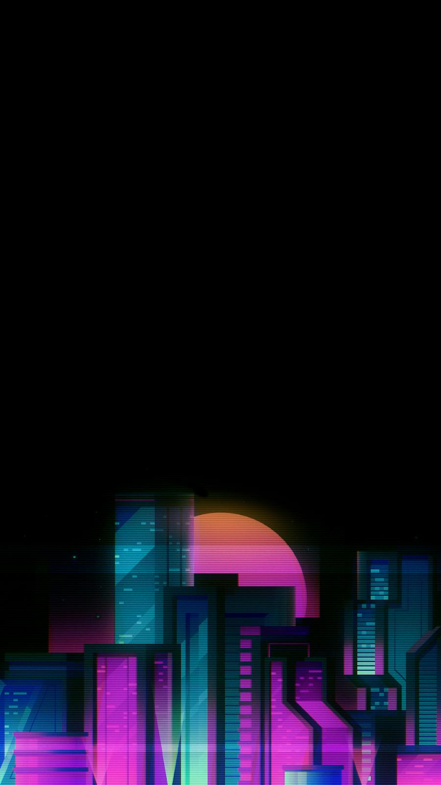 cityscape oled cyberpunk