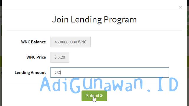 Mengikuti Program Lending WesternCoin