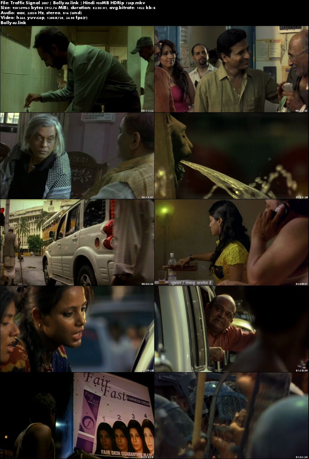 Traffic Signal 2007 HDRip 350MB Hindi 480p Download