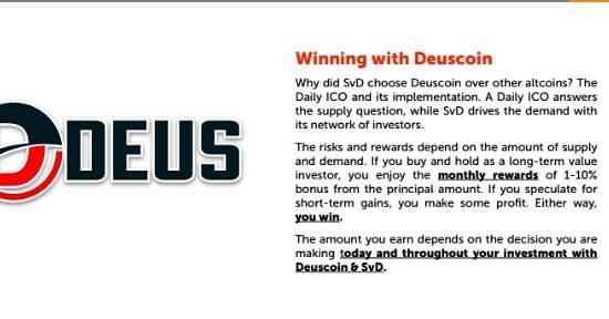 menjana pendapatan keuntungan pelaburan dengan mata wang digital Deuscoin