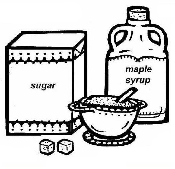 Recipientes Con Azúcar Para Colorear Y Pintar Dibujo Views