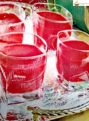 عصير بالشمندر الأحمر