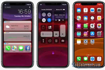 download tema oppo iphone ios 11 pro