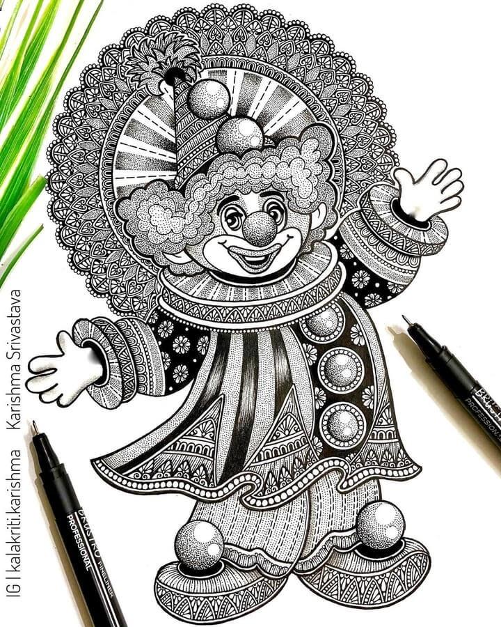 11-Happy-clown-Karishma-Srivastava-www-designstack-co