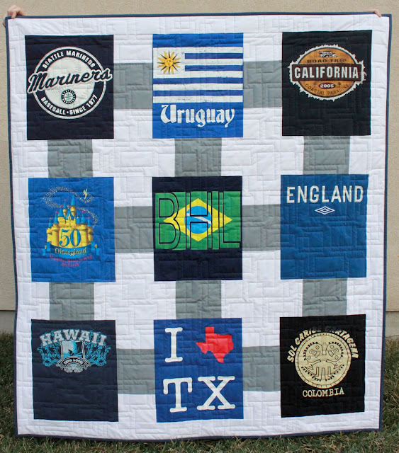 Road Trip quilt - from the Terrific T-Shirt Quilts book from Martingale