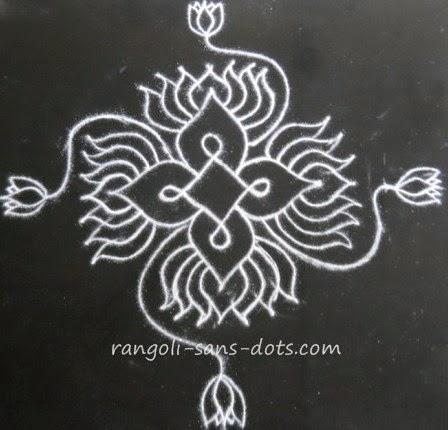 Flower rangoli designs | Kolam by Sudha Balaji