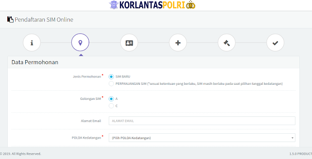 form pendaftaran sim online dari polri