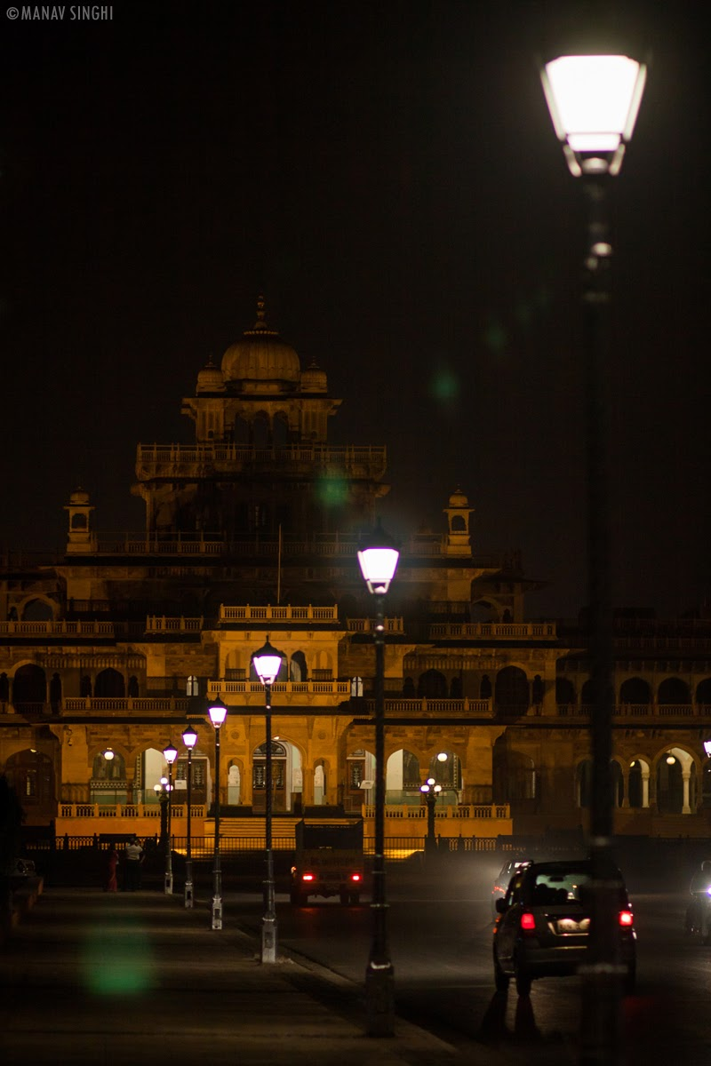 Albert Hall Museum at Night Time Jaipur