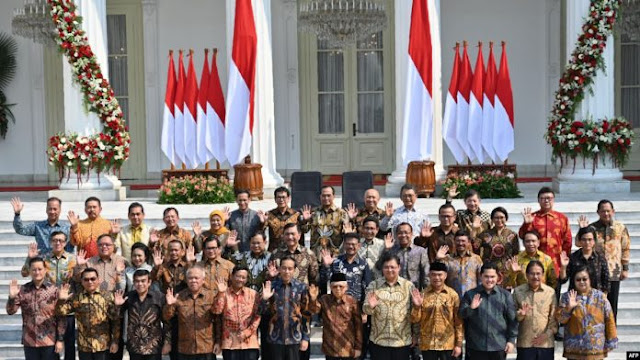 Resmi Diumumkan, Ini Daftar Kabinet Jokowi-Ma'ruf Amin