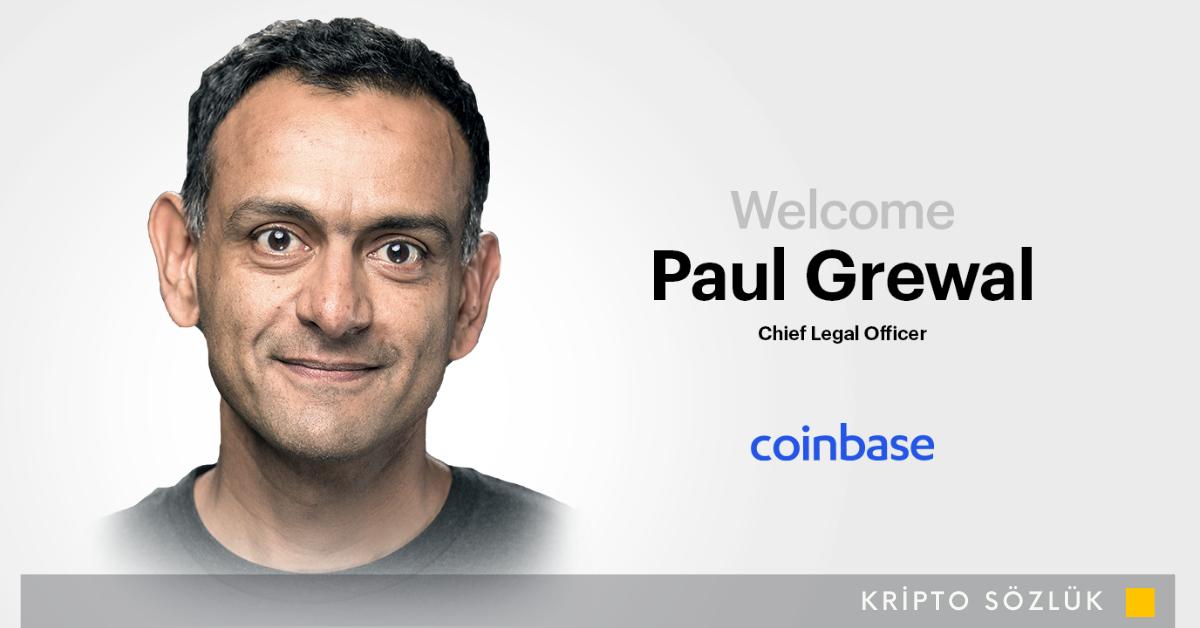 Coinbase, Facebook'un Eski Başkan Yardımcısı Paul Grewal'ı İşe Aldı
