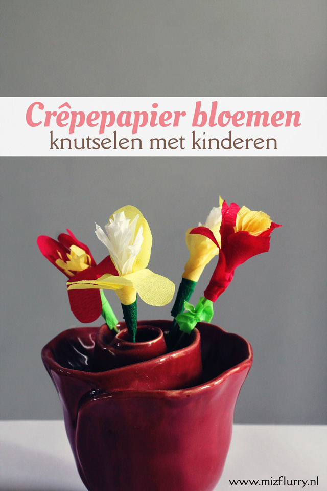Crepepapier bloemen knutselen kinderen