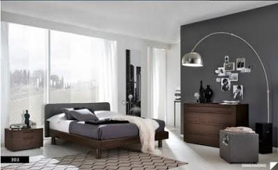 Dormitorios matrimoniales color gris  Dormitorios colores