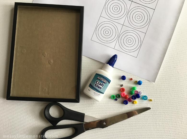 Printable Kandinsky circles craft template
