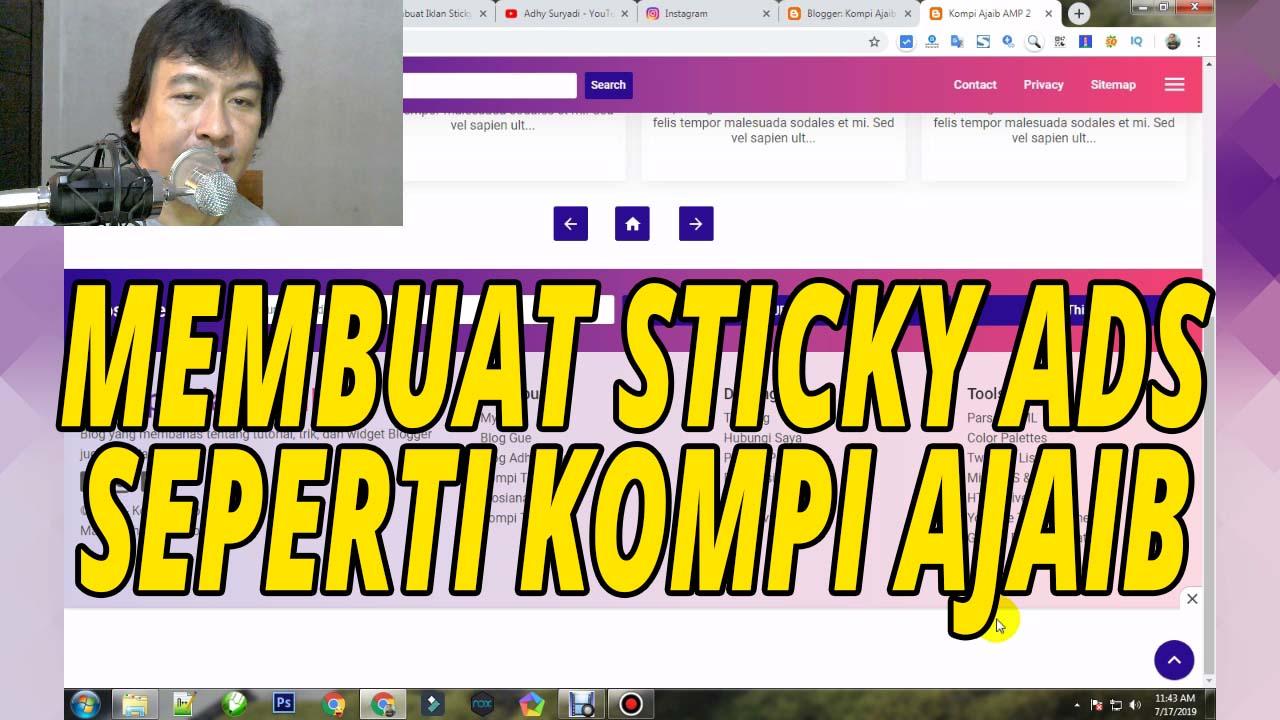 Cara Merubah Sticky Ads Non AMP Pada Template Kompi Ajaib AMP v3