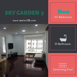 bán căn hộ 2 phòng ngủ sky garden 3 block 7c