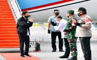 """Tiba di Silangit, Jokowi Langsung ke Lokasi """"Food Estate"""" di Desa Ria-ria Humbahas"""