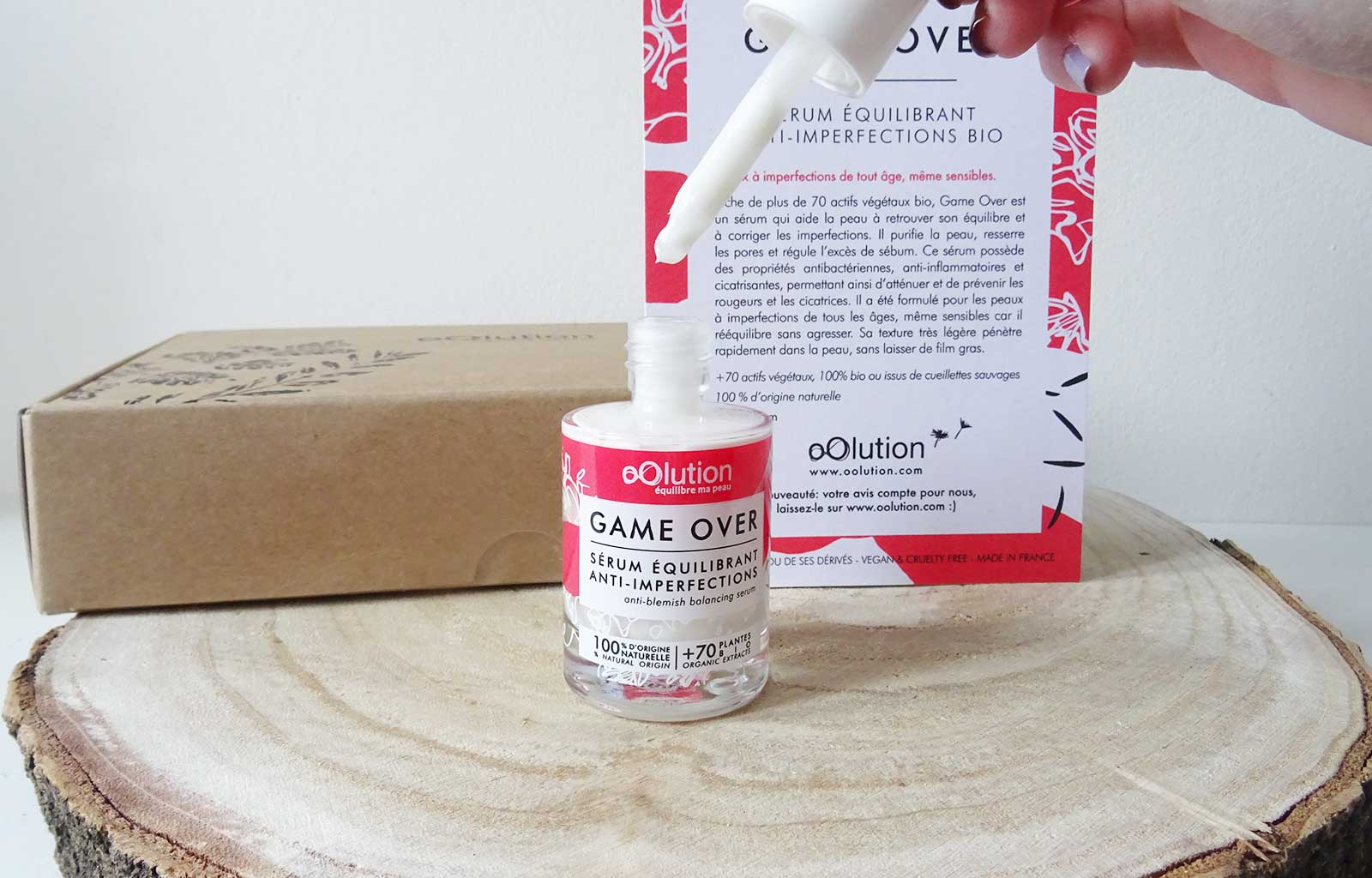 sérum imperfections game over oolution