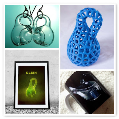image klein bottle creations earrings poster glowing dr who mug 3d printed klein bottle