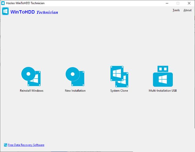 Tải về WinToHDD 5.0 Technician – Cài Windows trực tiếp trên ổ cứng